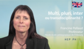 Multi, inter or transdisciplinarity ? (MOOC EDD - W4)
