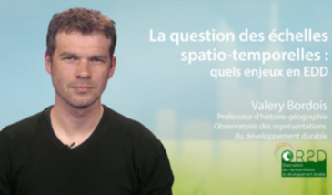 La question des échelles spatio-temporelles : quels enjeux en EDD