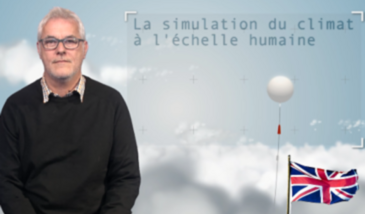 Climate simulation at human scale